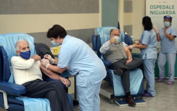 意大利開展的疫苗接種運動。 (圖源:路透社)