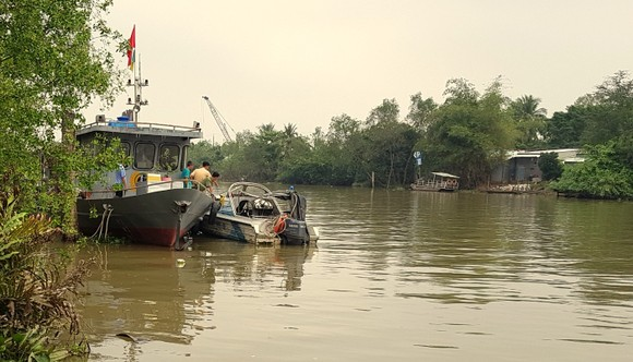 Một CSGT đường thủy mất tích khi tuần tra trên sông Hậu ảnh 1