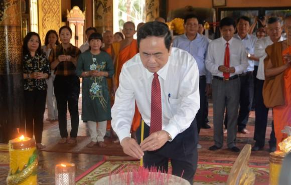 Đồng chí Trần Thanh Mẫn thăm, chúc Tết cổ truyền Chôl Chnăm Thmây ảnh 2
