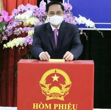 Thủ tướng Chính phủ dự lễ Khai mạc bầu cử và bỏ phiếu tại TP Cần Thơ ảnh 3