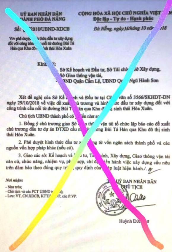 Khẩn: Đà Nẵng cảnh báo về giả văn bản, chữ ký Chủ tịch UBND thành phố Huỳnh Đức Thơ  ảnh 2