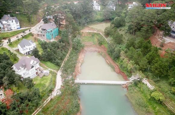 Ngang nhiên xây kè 30m ngăn hồ Tuyền Lâm - Đà Lạt ảnh 1