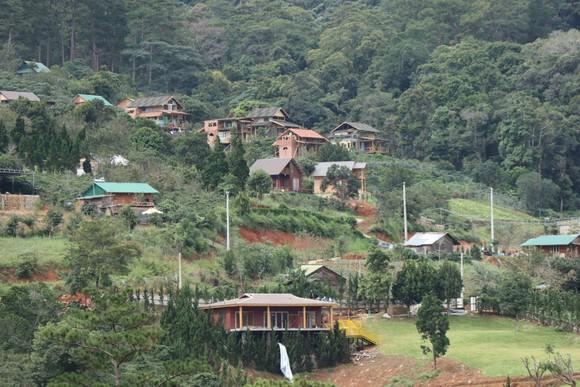 Hàng chục căn nhà xây dựng trái phép giữa đất rừng ở Lâm Đồng ảnh 1