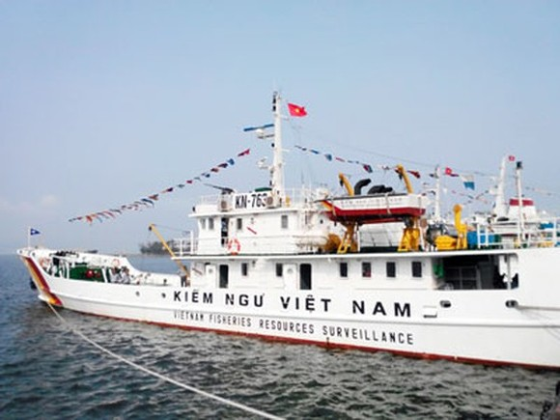 Kiểm ngư xua đuổi hàng trăm tàu cá nước ngoài vi phạm vùng biển Việt Nam ảnh 1