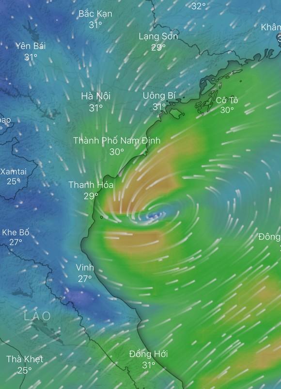Áp thấp nhiệt đới tiến sâu xuống vùng biển Bắc Trung bộ ảnh 1