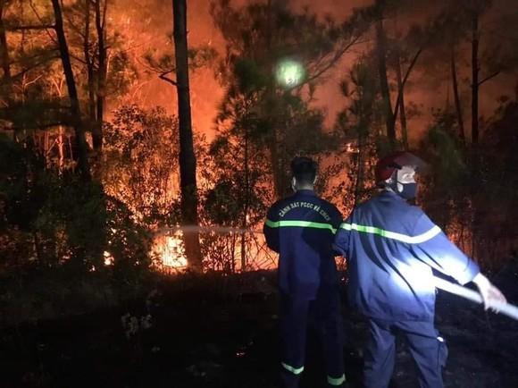 Cháy rừng ở Huế, cắt tải khẩn cấp bảo vệ đường dây 500kV Bắc - Nam ảnh 3