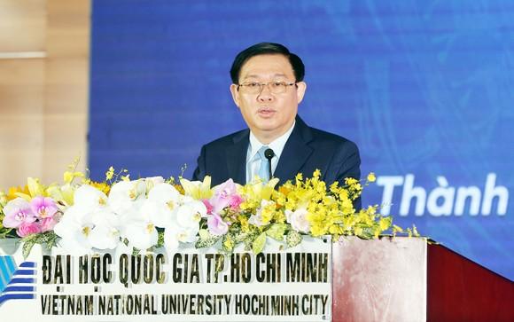 Phó Thủ tướng Vương Đình Huệ phát biểu tại buổi lễ. Ảnh: VGP