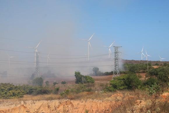 Cháy lớn đe dọa hàng loạt dự án điện gió, Chủ tịch huyện trực tiếp chỉ đạo dập lửa ảnh 1