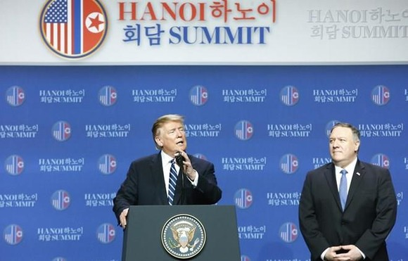 US President Donald Trump at the press conference following meeting with DPRK leader Donald Trump (Photo: VNA)