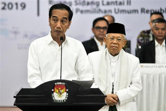 Indonesian President Joko Widodo speaks at the event (Photo: AFP/VNA)