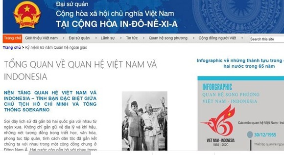 Website on the 65th anniversary of the Vietnam – Indonesia diplomatic ties (Photo: VNA)