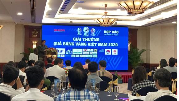Họp báo công bố kế hoạch tổ chức Giải thưởng Quả bóng Vàng Việt Nam 2020 ảnh 2