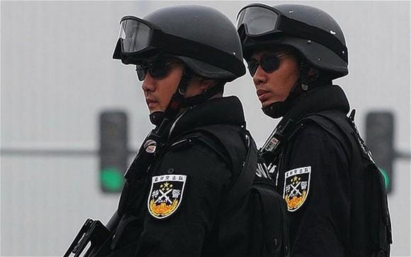 Cảnh sát Trung Quốc. Ảnh: AFP