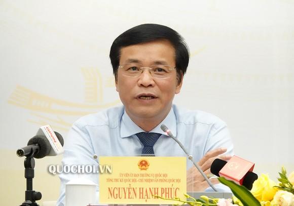 Tổng Thư ký, Chủ nhiệm Văn phòng Quốc hội Nguyễn Hạnh Phúc