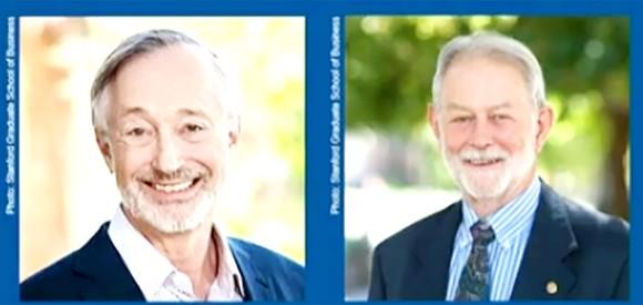 Hai nhà kinh tế học người Mỹ Paul Milgrom (trái)  và Robert Wilson