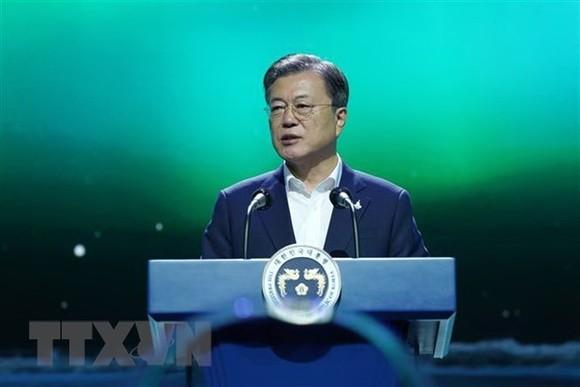 Tổng thống Moon Jae-in. Ảnh: Yonhap/TTXVN