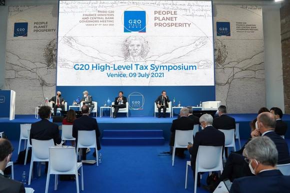 Một cuộc họp về cải cách thuế của G20 tại Italy