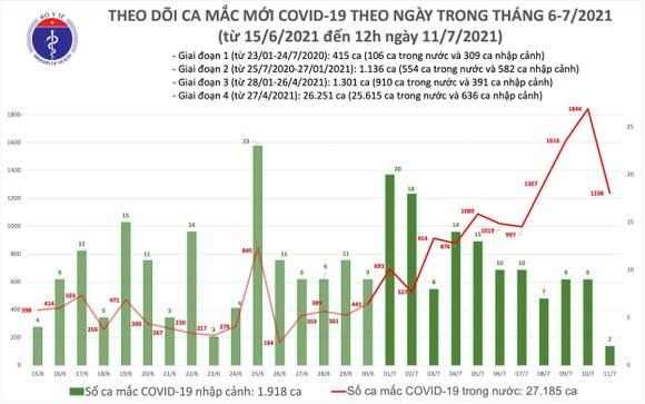 Trưa 11-7, cả nước  thêm 633 ca mắc Covid-19 ảnh 2