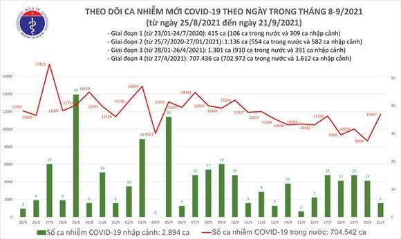 Ngày 21-9, cả nước có 11.692 ca mắc Covid-19 và 240 ca tử vong ảnh 2