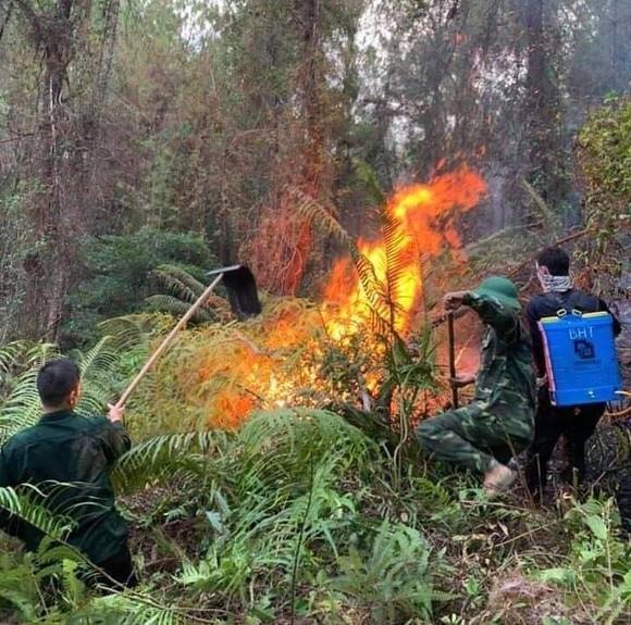 Cháy lớn xuyên đêm trên đỉnh núi Phú Sơn  ảnh 4
