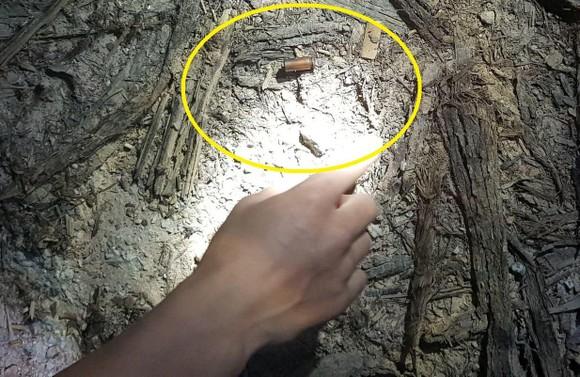 Viên đạn được phát hiện tại hiện trường