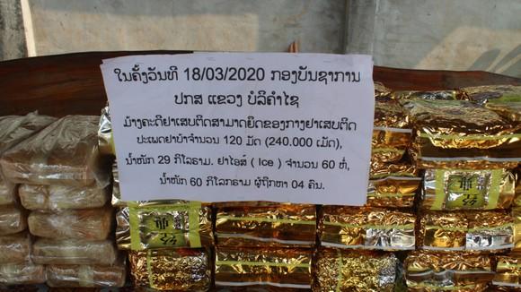Phá đường dây vận chuyển 60kg ma túy tổng hợp, 240.000 viên hồng phiến từ Lào về Việt Nam ảnh 3