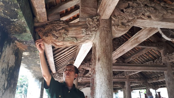 Di tích đình Hội Thống và đình làng Trường Lưu ở Hà Tĩnh hư hỏng nặng ảnh 7