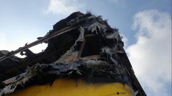 Xe khách bốc cháy lúc rạng sáng trên Quốc lộ 1 ở Hà Tĩnh ảnh 9