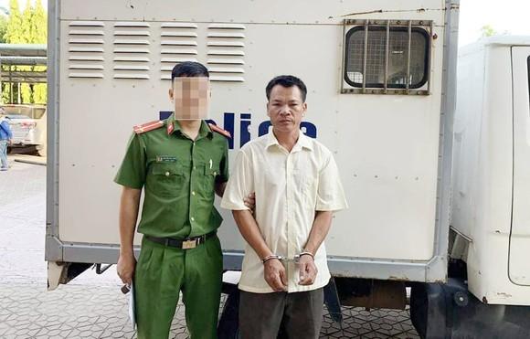 Đối tượng Nguyễn Trọng Hạnh tại cơ quan công an