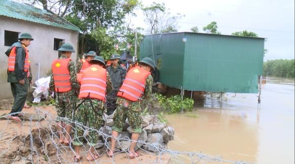 Huy động lực lượng kịp thời gia cố sạt lở bờ sông ở Hà Tĩnh ảnh 5