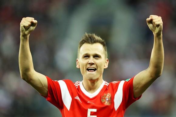 Cheryshev được bầu chọn cầu thủ xuất sắc nhất trận lần thứ hai. Ảnh Getty Images