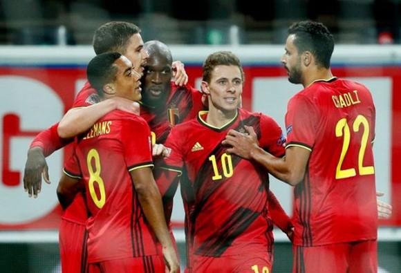 Romelu Lukaku tỏa sáng và tuyển Bỉ tiếp tục tỏ rõ sức mạnh. Ảnh: Getty Images