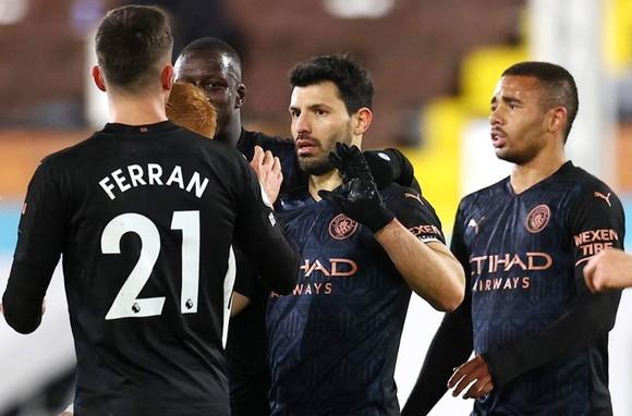 Sergio Aguero ghi bàn sau 14 tháng giúp Man.City thắng trận thứ 2 liên tiếp. Ảnh: Getty Images