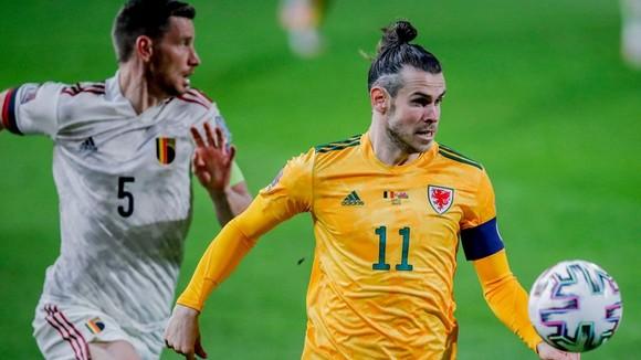Gareth Bale trong trận Xứ Wales thua tuyển Bỉ mới đây.