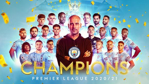 Man.City đã thắng danh hiệu Premier League thứ 3 trong 4 năm.