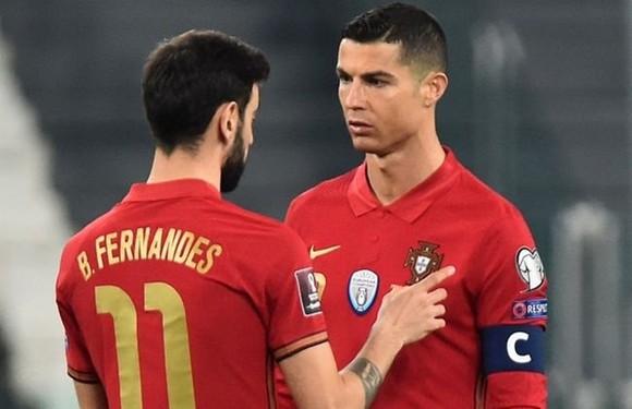 Cristiano Ronaldo và Bruno Fernandes là nguồn cảm hứng của nhà vô địch. Ảnh: Getty Images