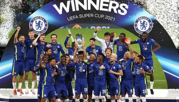 Chelsea đánh bại Villarreal để lần thứ 2 giành Siêu cúp châu Âu. Ảnh: Getty Images