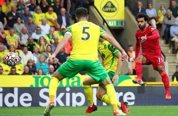 Mohamed Salah đã tỏa sáng rực rỡ để thiết lập kỷ lục ghi bàn. Ảnh: Getty Images