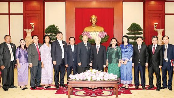 Tổng Bí thư Nguyễn Phú Trọng tiếp đoàn Ủy ban Kiểm tra Trung ương Đảng Nhân dân Campuchia