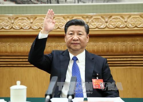 Tổng Bí thư, Chủ tịch Trung Quốc Tập Cận Bình tại đại hội. THX/TTXVN