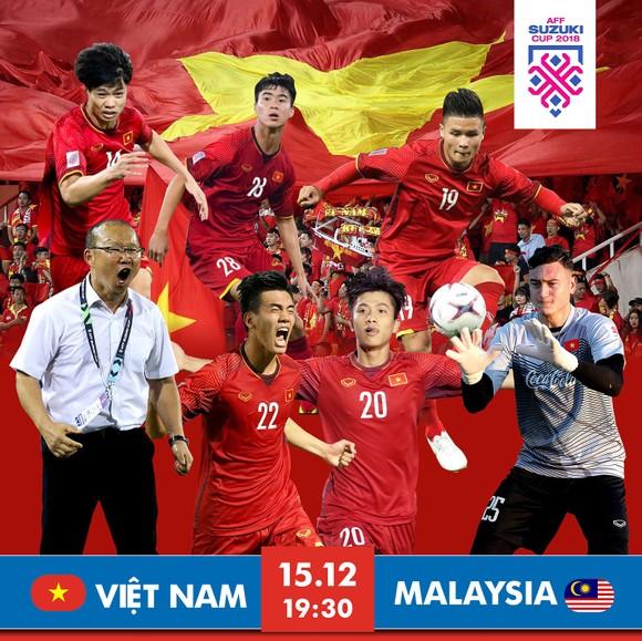 Lượt về chung kết AFF Cup 2018 giữa Việt Nam - Malaysia (19 giờ 30 ngày 15-12): Đợi phút thăng hoa ảnh 1