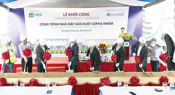 Tập đoàn Xây dựng Hòa Bình khởi công Nhà máy Coffa nhôm VGSI Đồng Nai ảnh 1