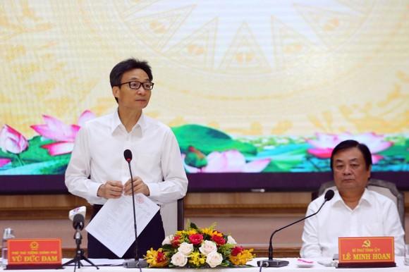 Phó Thủ tướng Vũ Đức Đam phát biểu tại buổi làm việc. Ảnh: VGP