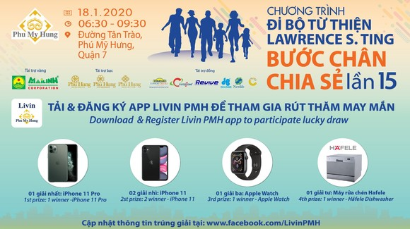 Đi bộ từ thiện có cơ hội trúng iPhone 11 Pro