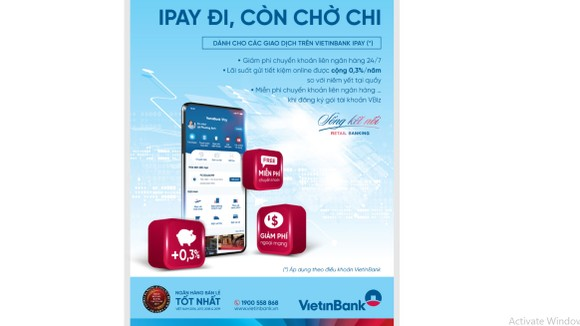 VietinBank dành nhiều ưu đãi cho khách hàng giao dịch trực tuyến qua VietinBank iPay Mobile