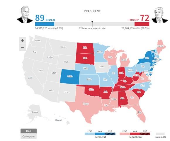 Bầu cử Mỹ 2020: Đương kim Tổng thống có 213 phiếu đại cử tri, ứng viên Joe Biden giành 238 phiếu ảnh 18