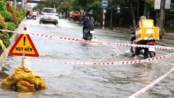 Đường giao thông ở Cà Mau hiện hư hỏng nặng.  Ảnh: TẤN THÁI