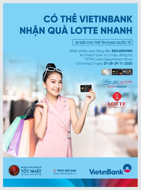 Nhận phiếu quà tặng đến 500.000 đồng khi mua sắm tại Lotte Department store