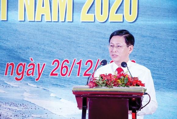 Ông Lê Ngọc Khánh, Phó Chủ tịch UBND tỉnh, Chủ tịch Hội đồng  giám sát XSKT tỉnh BR-VT phát biểu chỉ đạo tại hội nghị