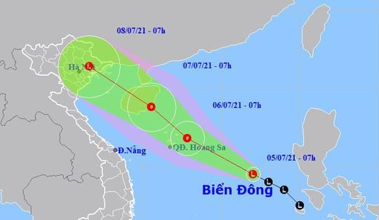 Vị trí và tâm áp thấp nhiệt đới